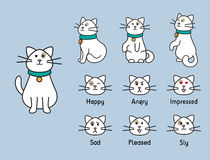 Cat personage Royalty Free Stock Images