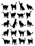Cat Pet Animal Silhouettes royalty illustrazione gratis