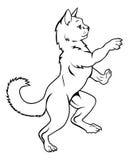 Cat Pet in Heraldic Rampant Coat of Arms Pose Stock Photography