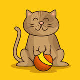 cat pet shop icon Royalty Free Stock Photos