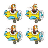 Cat Pilot Animation Sprite. Cartoon Illustration of Cat Pilot Animation Sprite for game Stock Images