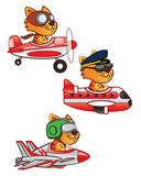 Cat Pilot Royalty Free Stock Image