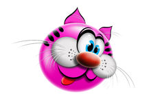 Cat pink cartoon Stock Photos