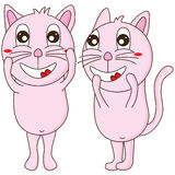 Cat pink happy cute Royalty Free Stock Image