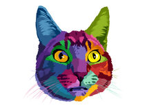 Cat pop art. Design cat pop art populer for design t-shirt or pets logo vector illustration