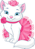 Cat Princess. Cute cat princess on a white background Stock Image