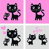 Cat print stock illustration