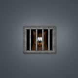 Cat in prison Royalty Free Stock Images