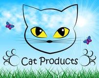 Cat Products Indicates Puss Buy och shopping royaltyfri illustrationer