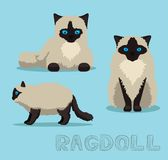 Cat Ragdoll Cartoon Vector Illustration. Animal Character EPS10 File Format Stock Photo