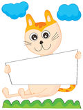 Cat Reading royaltyfri illustrationer