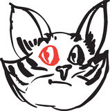 Cat red eye Stock Photos