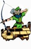 Cat Robin Hood Fotografia de Stock