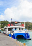 Cat Rose ferry in Seychelles Royalty Free Stock Photos