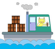 Cat's cargo Royalty Free Stock Photos