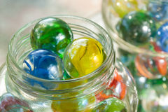 Cat's Eye Shooter Marbles Stock Image