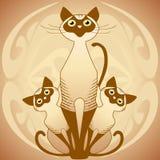Cat's family stock illustration