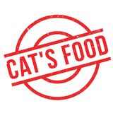Cat`S Food rubber stamp Stock Photography