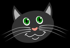 A cat's head smiling Royalty Free Stock Images