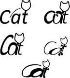 Cat's logotype. Logotyope cat's company, pet, animal Stock Photography