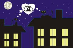 The cat's love Royalty Free Stock Image