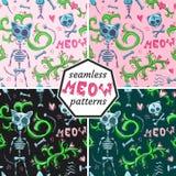 Cat`s patterns. Stock Photos