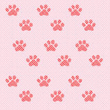 Cat's paws of mosaic elements Royalty Free Stock Photos
