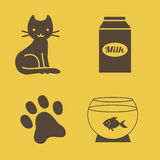 Cat's theme icons vector set. Vector set -cat's theme icons Stock Images