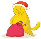 Cat Santa Claus Royalty Free Stock Photography