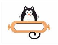 Cat  sausage logo Stock Image