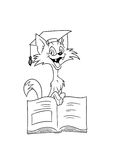 Cat scientist with book Royalty Free Stock Photos