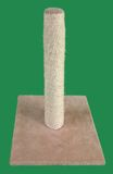 Cat Scratching Post Cutout. Cat Scratching Post Isolated on Green Background Stock Photography