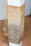Cat scratching post from manila rope Royalty Free Stock Image