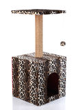 Cat scratching post on a white  background Royalty Free Stock Images