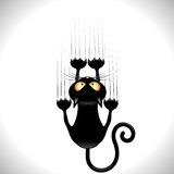 Cat Scratching Wall negra stock de ilustración