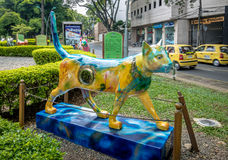 Cat sculpture at Cats Park - Cali, Colombia Royalty Free Stock Images
