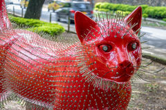 Cat sculpture at Cats Park - Cali, Colombia Royalty Free Stock Photos