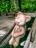 Cat sculpture Royalty Free Stock Photo