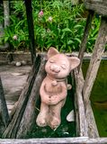 Cat sculpture Royalty Free Stock Image