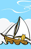 Cat at Sea Stock Photo