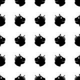 Cat Seamless Animal Pattern Fotografia Stock Libera da Diritti