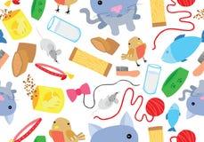 Cat Seamless Background divertida Imágenes de archivo libres de regalías
