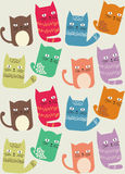 Cat Seamless Background Pattern. Cheerful and cute cat seamless pattern Stock Photos