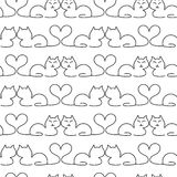 Cat Seamless Pattern adorabile Fotografia Stock