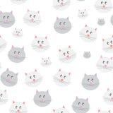Cat Seamless Pattern Background Vector Immagini Stock Libere da Diritti