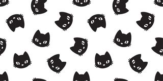 Free Cat Seamless Pattern Cat Head Vector Kitten Isolated Wallpaper Background White Royalty Free Stock Photography - 125422257