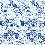 Cat seamless pattern Stock Photography