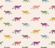 Cat seamless pattern. Pets background. Royalty Free Stock Photo