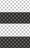 Cat Seamless Pattern Set Fotografia Stock Libera da Diritti