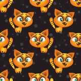 Cat seamless pattern Royalty Free Stock Images